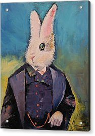 White Rabbit Acrylic Print by Michael Creese