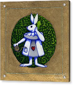 Acrylic Print featuring the mixed media White Rabbit Wonderland by Donna Huntriss