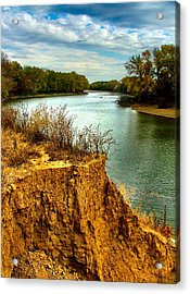 White River Erosion Acrylic Print by Julie Dant