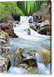 White River Acrylic Print by Mike Schmidt
