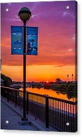 White River Sunset Acrylic Print