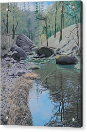 White Rock Creek Acrylic Print