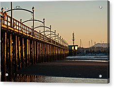 Acrylic Print featuring the photograph White Rock Pier by Sabine Edrissi