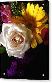 Acrylic Print featuring the photograph White Rose by Meghan at FireBonnet Art