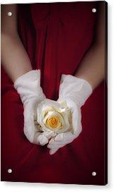 White Rose Acrylic Print by Joana Kruse