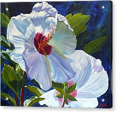 White Rose Of Sharon Acrylic Print