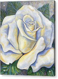 White Rose Two Acrylic Print by Linda Mears