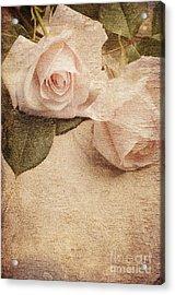 White Roses Acrylic Print by Jelena Jovanovic