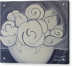 White Roses Acrylic Print by Teresa Hutto