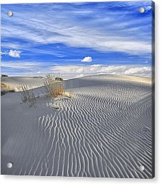 Acrylic Print featuring the photograph White Sand And Blue Sky by Wendell Thompson