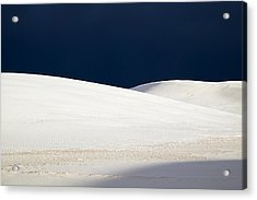 White Sands Dark Sky Acrylic Print