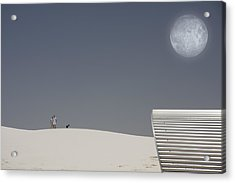 White Sands Moonrise Acrylic Print by Bruce Rolff