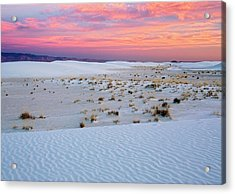 White Sands National Monument Acrylic Print by Bob Gibbons/science Photo Library