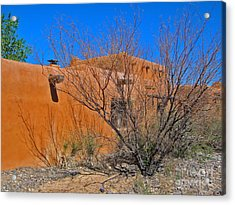 White Sands New Mexico Adobe 02 Acrylic Print by Gregory Dyer