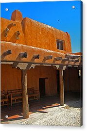 White Sands New Mexico Adobe 03 Acrylic Print by Gregory Dyer