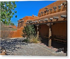 White Sands New Mexico Adobe Acrylic Print by Gregory Dyer