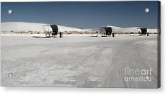 White Sands New Mexico Rest Area Acrylic Print by Gregory Dyer