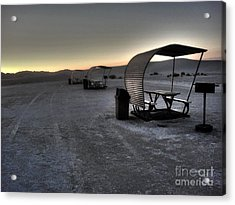 White Sands New Mexico Sunset Twilight 02 Acrylic Print by Gregory Dyer