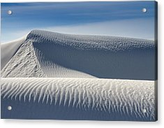 Acrylic Print featuring the photograph White Sands Ridges by Kristal Kraft