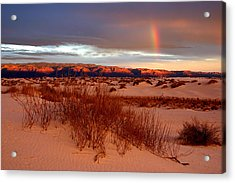 Acrylic Print featuring the photograph White Sands Sunset by Christopher McKenzie