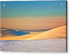 White Sands Sunset Acrylic Print