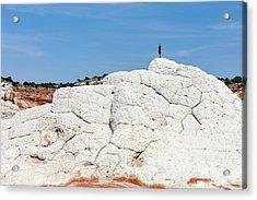 White Sandstone Acrylic Print