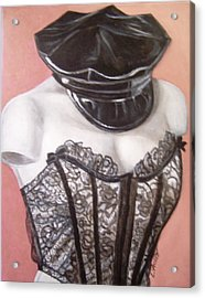 Acrylic Print featuring the painting White Shoulders by Laura Aceto