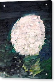 White Sphere Acrylic Print by Fabrizio Cassetta