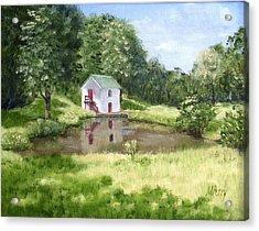 White Springhouse Acrylic Print