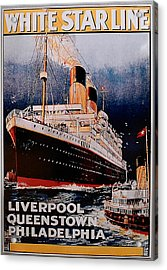 White Star Line Poster 1 Acrylic Print