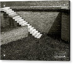 White Steps At Fort Barrancas Acrylic Print by Tom Brickhouse