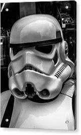 White Stormtrooper Acrylic Print by David Doyle