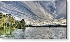 White Streaks.  Sunset Acrylic Print by Geoff Childs