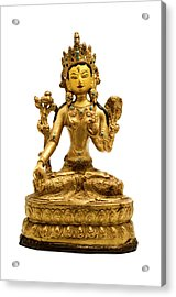Acrylic Print featuring the photograph White Tara by Fabrizio Troiani