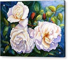 White Teas Rose Tree Acrylic Print