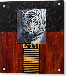 White Tiger Acrylic Print by Darice Machel McGuire