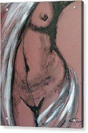 White Towel Acrylic Print by Carmen Tyrrell