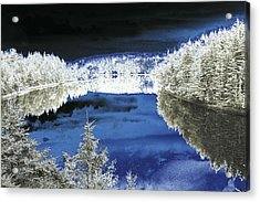 Acrylic Print featuring the photograph White Trees And River by Jason Lees