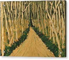 Acrylic Print featuring the painting White Trees by Clarence Major