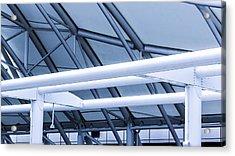 White Tube Blue Tube Acrylic Print