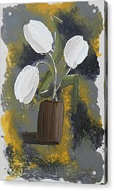 White Tulips Acrylic Print by Leana De Villiers