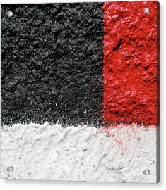 White Versus Black Over Red Acrylic Print