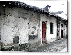 White Walls Red Doors Acrylic Print by Ivy Ho
