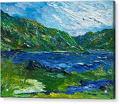 White Water In Kenmare  Kerry Acrylic Print