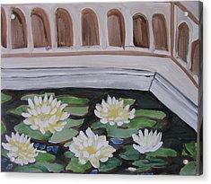 White Water Lilies Acrylic Print by Vikram Singh