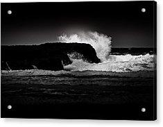 White Wave Acrylic Print