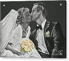 White Wedding Acrylic Print by Katharina Filus