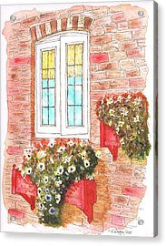 White Window Acrylic Print