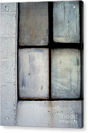 Acrylic Print featuring the photograph White Window by Robert Riordan