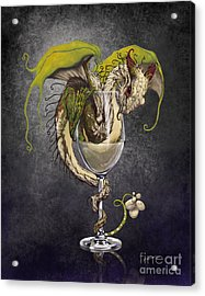 White Wine Dragon Acrylic Print